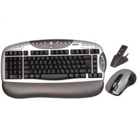 Left Handed Wireless 'A' Style Keyboard with Mouse from A4Tech