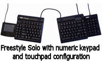 Freestyle Solo with touchpad and numeric keypad configuration