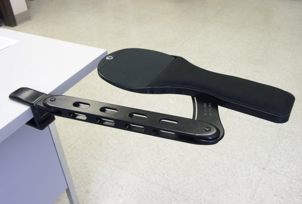 Arm Rest With Extension Adjusted Backward Slide Forward